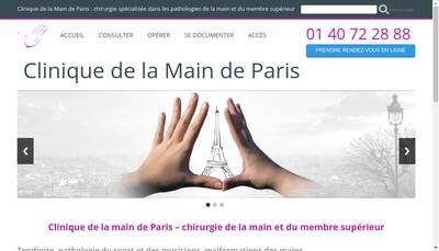 Site internet de Clinique de la Main