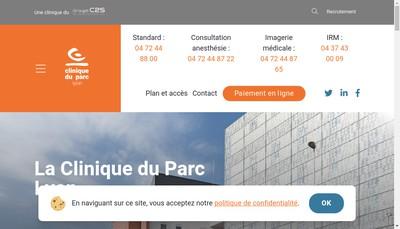Site internet de Clinique du Parc