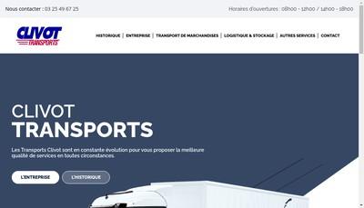 Site internet de Transports Clivot