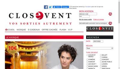 Site internet de Closevent