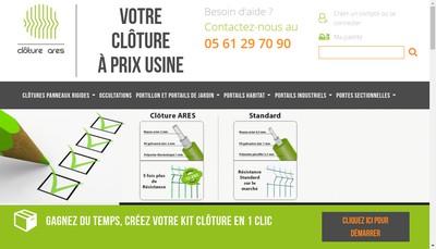 Site internet de Cloture Ares