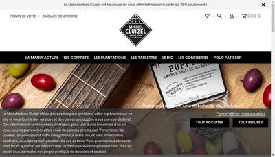 Site internet de Michel Cluizel Concept