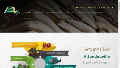 Site internet de Cie Nouvelle Manutentions