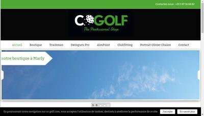 Site internet de CO Golf