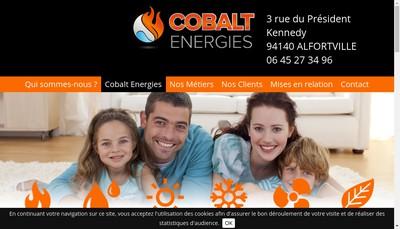 Site internet de Cobalt Energies