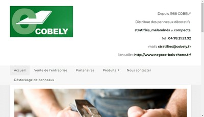 Site internet de Cobely