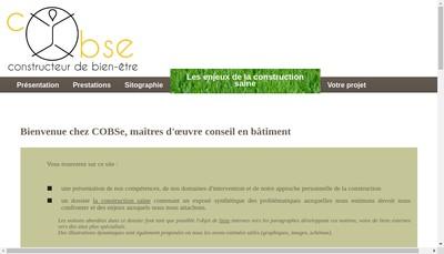 Site internet de Cobse