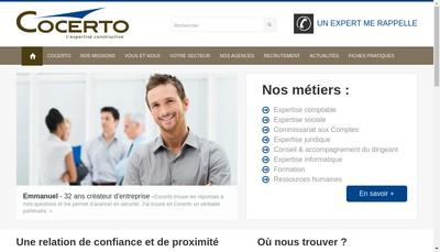 Site internet de Cocerto Entreprise