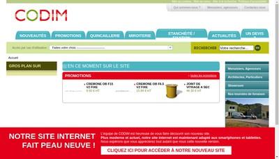 Site internet de Codim