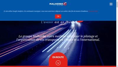 Site internet de Malherbe Logistique