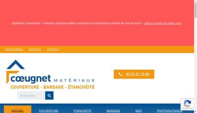 Site internet de Coeugnet Materiaux