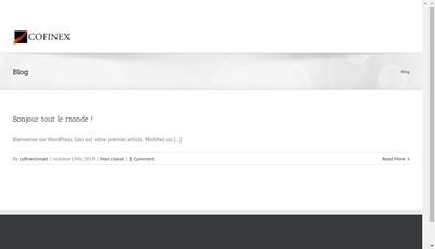 Site internet de Cofinex