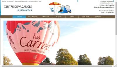 Site internet de Centre de Vacances les Alouettes