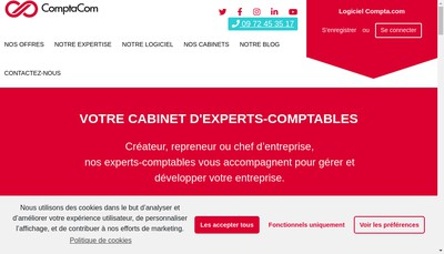 Site internet de Comptacom - Compta Expert