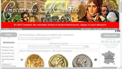 Site internet de Comptoir des Monnaies