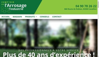Site internet de Comptoir de l'Arrosage et de l'Industrie