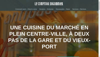 Site internet de Comptoir Dugommier