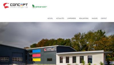 Site internet de Concept Imprimerie