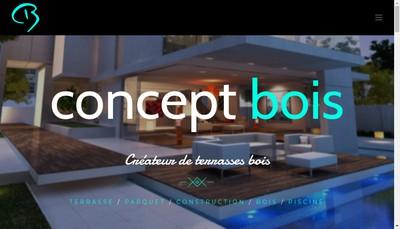 Site internet de Concept Bois