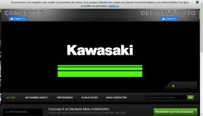 Site internet de Decibels Moto