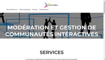 Site internet de Concileo