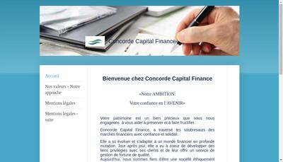 Site internet de Concorde Capital Finance