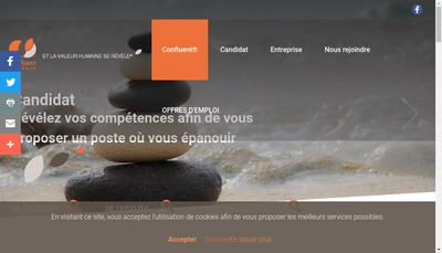 Site internet de Confluent Interim