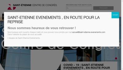 Site internet de Societe d'Exploitation du Centre de Congres de Saint Etienne