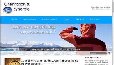 Site internet de Synergie et Orientation