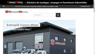 Site internet de Conso Metal