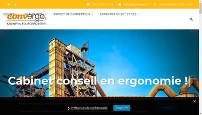 Site internet de Convergo