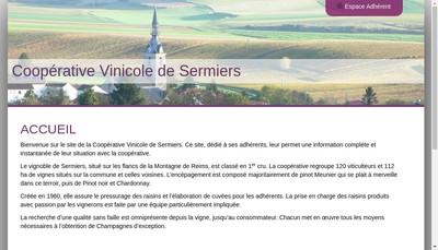 Site internet de Cooper Vinicole de Sermiers
