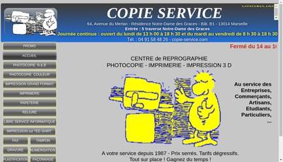 Site internet de Copie Service