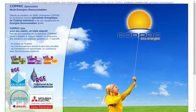 Site internet de Coppac Eco Energies