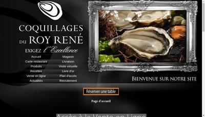 Site internet de Coquillages du Roy Rene