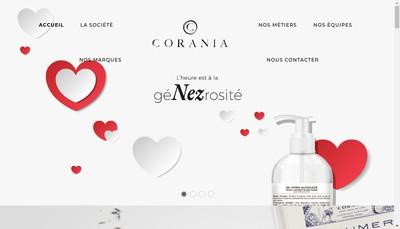 Site internet de Parfums Corania