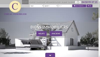 Site internet de Coreag Immobilier