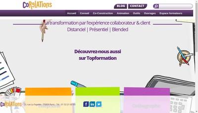 Site internet de Corelations