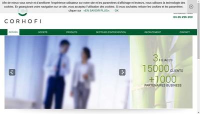 Site internet de Corhofi Technologie