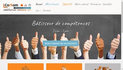 Site internet de Corhom Btp