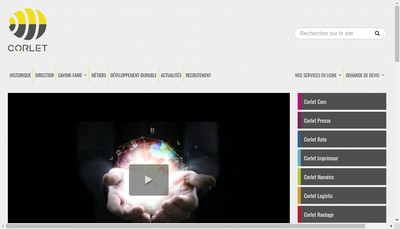 Site internet de Societe Financiere Corlet