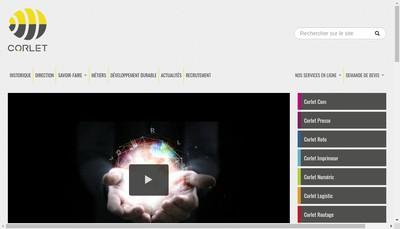 Site internet de Corlet Imprimeur