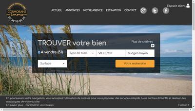 Site internet de Cormorans Immo