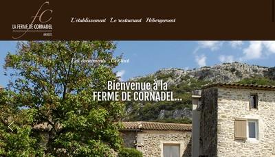 Site internet de La Ferme de Cornadel