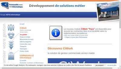 Site internet de Cornouaille Informatique