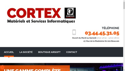 Site internet de Cortex High Tech