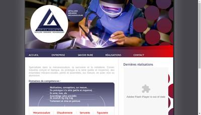Site internet de Corvec Industrie