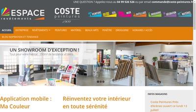 Site internet de Coste-Peintures