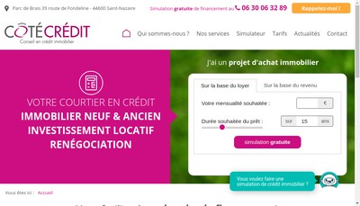 Site internet de Cote Credit