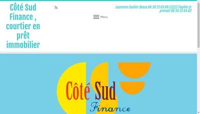 Site internet de Cote Sud Finance
